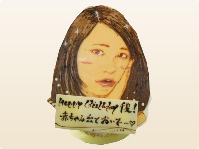 手書き 実写ケーキ